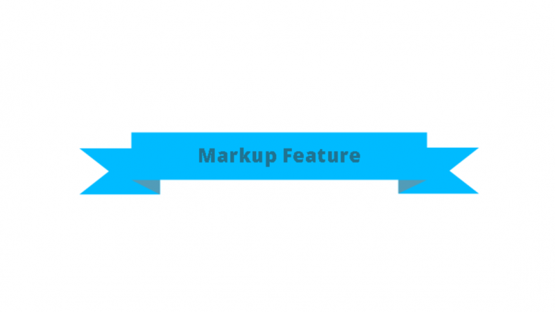 Markup feature