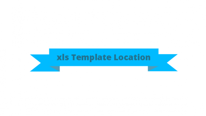 Excel Template Location